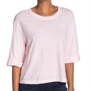 Michael Stars Tickle Pink Supima Crew Neck T-Shirt